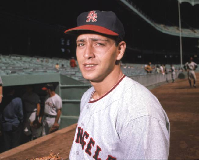 Former Los Angeles Angels pitcher Bo Belinsky is shown in this 1962 photo.  Belinsky, known as much for his colorful personality as his baseball career, has died of an apparent heart attack at his home in Las Vegas, Friday Nov. 23, 2001.  He was 64. The left-hander pitched a nine-strikeout, four-walk no-hitter as a rookie for the Los Angeles Angels against the Baltimore Orioles at Dodger Stadium in 1962, the first major league no-hitter on the West Coast.  (AP Photo/File)