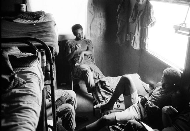 "In this August 1971 file photo, American troops who are addicted to heroin sit together at a U.S. Army amnesty center in Long Binh, Vietnam. Heroins reputation in the 1970s was ""a really hard-core, dangerous street drug, a killer drug, but theres a whole generation who didnt grow up with that kind of experience with heroin,"" said New York City Special Narcotics Prosecutor Bridget Brennan, whose office was created in 1971 in response to heroin use and related crime. ""Its been glamorized, certainly much more than it was during the '70s."""