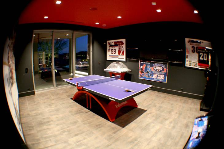 This image shows the game room at 45 Hawk Ridge Drive, one of the priciest homes sold in the Las Vegas Valley during 2012.