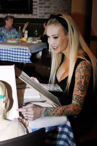 Sabina Kelley and her daughter, Grace Lynn, at D.Vino in Monte Carlo.