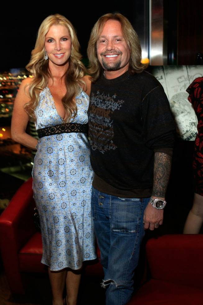 Alicia Jacobs and Vince Neil at <em>An Evening With Denise Truscello</em> at Mandarin Oriental in MGM's CityCenter on Oct. 18, 2010.