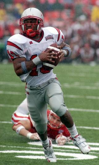 Running back Dominique Dorsey rushed for 100 yards on 26 carries to help the UNLV football team upset Wisconsin 23-5 on Sept. 13, 2003. UNLV opens this season Thursday at Wisconsin.