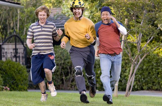 "Actors from left, David Spade, Jon Heder and Rob Schneider appear in a scene from ""The Benchwarmers,"" in this undated photo released by Revolution Studios. Critics are being shut out of more films as studios forgo advance screenings on flicks they expect reviewers to trash, figuring the movies stand a better chance of box-office success with no reviews rather than bad ones. (AP Photo/Revolution Studios, Darren Michaels)."