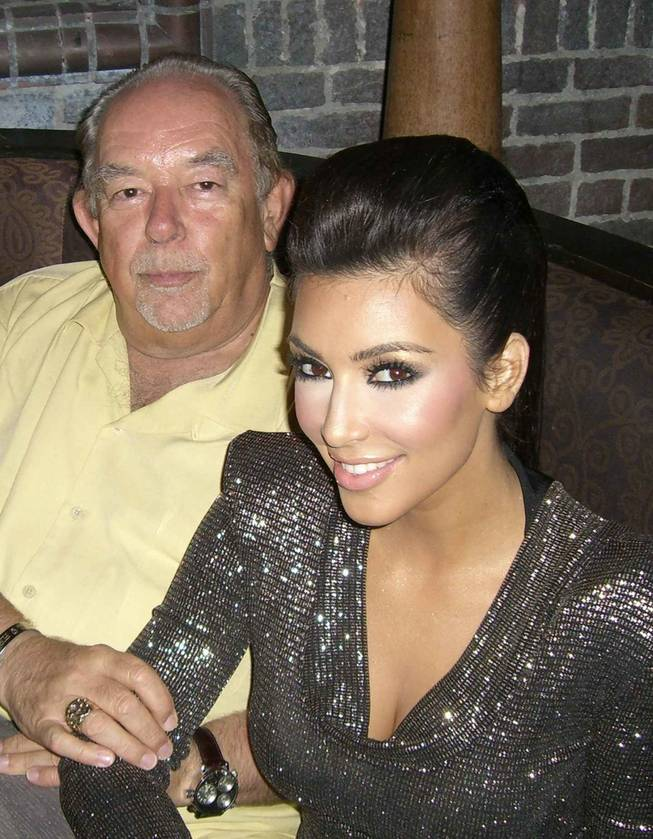 Robin Leach and Kim Kardashian celebrate Kim's 29th birthday at Tao in The Venetian.