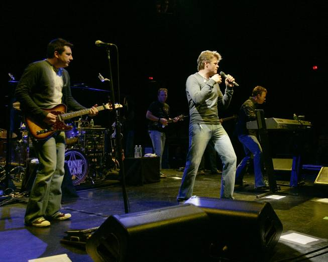 The Texas based band Lonestar performs before a sold out South Shore Music Circus in Cohasset, Mass., Thursday, August 25, 2005. (AP Photo/Robert E. Klein)