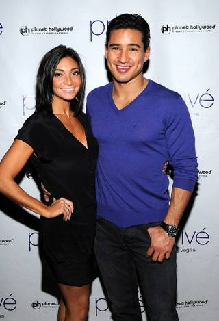 Mario Lopez hosts a pre-party at Prive in Planet Hollywood on Jan. 29, 2010. His girlfriend Courtney Mazza attended the celebration with him.