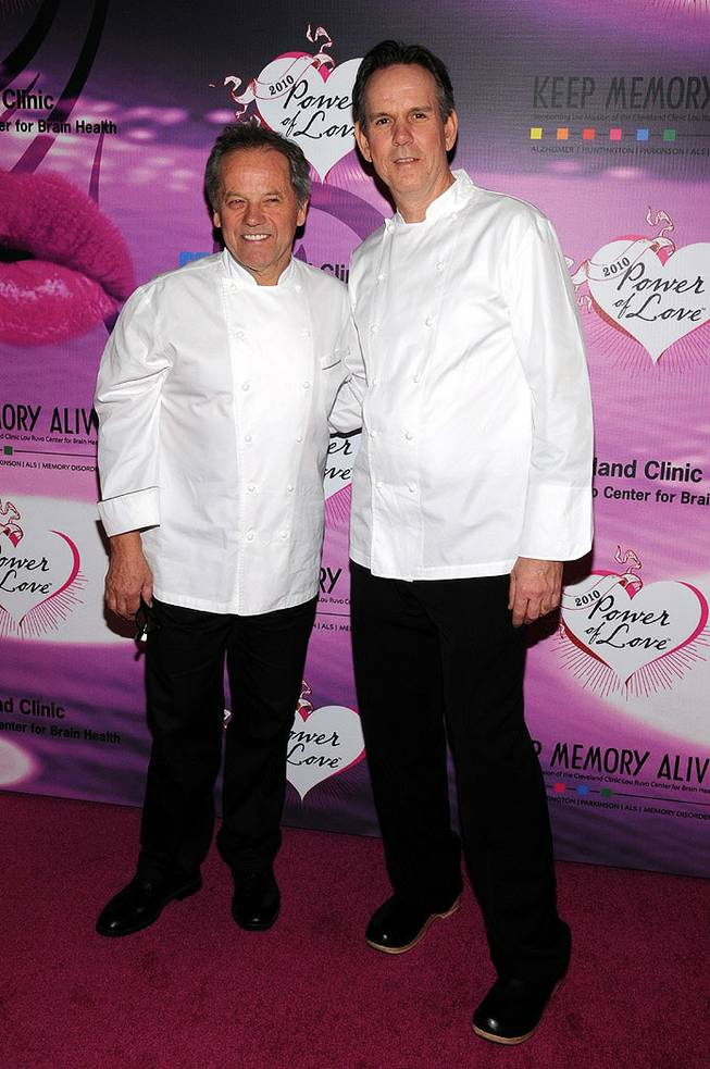 Wolfgang Puck and Thomas Keller at the Keep Memory Alive 14th Annual Power of Love Gala at the Bellagio on Feb. 27, 2010.