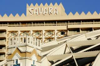 One of the Sahara's towers displays its Middle Eastern design elements. The Sahara recently announced it is temporarily closing two of its three hotel towers and its buffet, citing slow business during the holiday season.