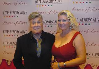 Tony Curtis and Jill Curtis at MGM Grand on Feb. 11, 2006.