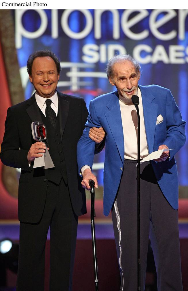 Billy Crystal and the legendary Sid Caesar at the TV Land Awards airing on March 22, 2006 on TV Land. Billy Crystal gave Sid Caesar the Pioneer Award.