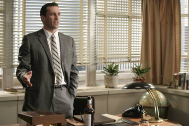 Actor John Hamm as Don Draper in the AMC dramatic series Mad Men.