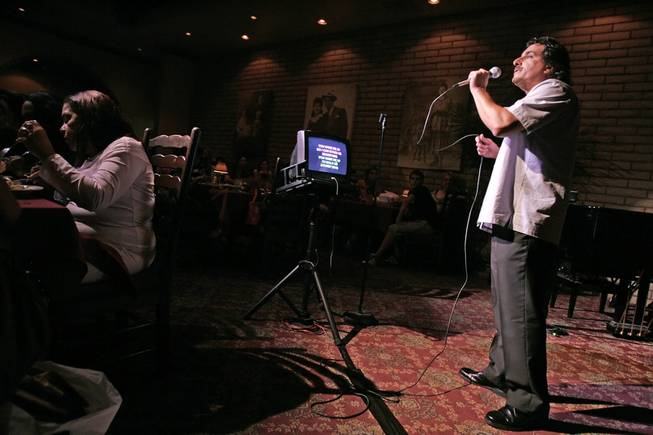 LAS VEGAS -- July 17, 2006 -- John Garafalo sings during karaoke night at the Bootlegger Bistro at 7700 Las Vegas Blvd., South. Garafalo, a hopeful opera singer, left New York to pursue a dream to sing in Las Vegas. R. MARSH STARKS / LAS VEGAS SUN