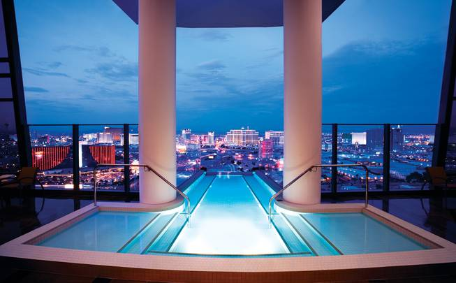 The pool of a penthouse at the Palms.