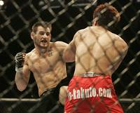 Jon Fitch takes on Kuniyoshi Hironaka at UFC 64 on Saturday, Oct. 14, 2006.
