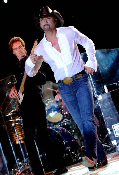 Country superstar Tim McGraw performs at The M Resort on Oct. 23, 2009.