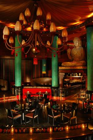 An interior look of the Little Buddha restaurant located inside the Palms.