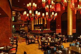 The dining area of the Little Buddha restaurant located inside the Palms.