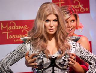 Fergie unveils her wax figure at Madame Tussauds at the Venetian on Sept. 22, 2011.