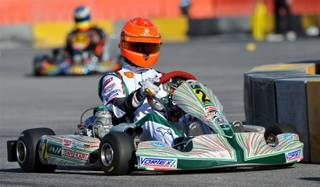 Seven-time Formula One racing champion Michael Schumacher at the 13th Superkarts USA SuperNationals at The Rio.