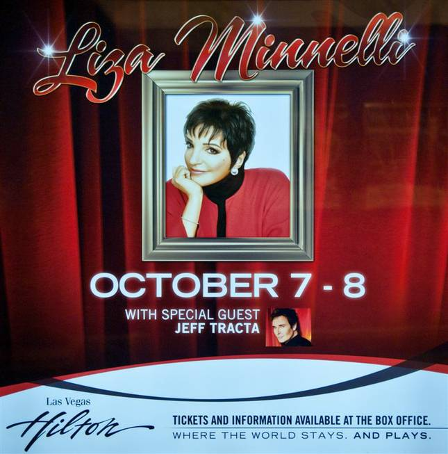 Liza Minnelli at the Las Vegas Hilton on Oct. 7, ...