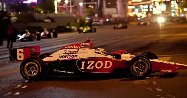 The Izod IndyCar World Championship parade on The Strip on Oct. 13, 2011.