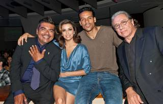 Eva Longoria and friends at Tropicana's nightclub on Oct. 15, 2011.