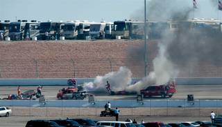 A 15-car wreck took the life of two-time Indy 500 winner Dan Wheldon at Las Vegas Motor Speedway on Sunday, Oct. 16, 2011. Wheldon was 33.