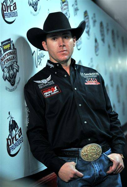 Nine-time world champion Trevor Brazile on the seventh day of the 2009 Wrangler National Finals Rodeo at the Thomas & Mack Center on Dec. 9, 2009.