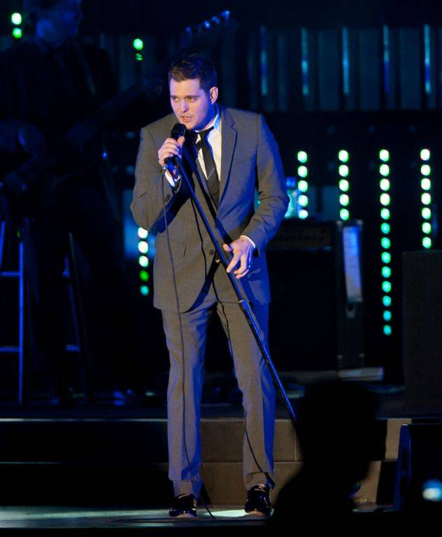 Michael Buble performs during the Andre Agassi Grand Slam for Children benefit gala at Wynn Las Vegas on Oct. 29, 2011.