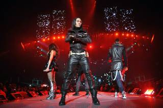 The Black Eyed Peas at Mandalay Bay Events Center on Dec. 29, 2009. Pitbull opened for BEP.