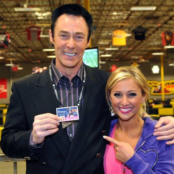 Kentucky native Lance Burton and Miss Kentucky Mallory Ervin at Pole Position Raceway on Jan. 24, 2010.