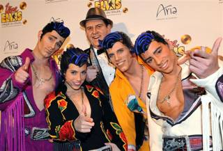 The blue carpet for the Viva Elvis world premiere at Aria in CityCenter on Feb. 19, 2010.
