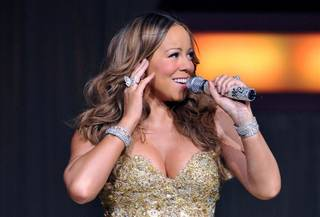 Mariah Carey performs the final stop of her The Angels Advocate Tour at The Colosseum in Caesars Palace on Feb. 27, 2010.