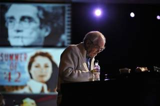 Michel Legrand rehearses with his orchestra at MGM Grand Garden Arena on March 25, 2010.