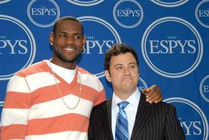 LeBron James and Jimmy Kimmel.