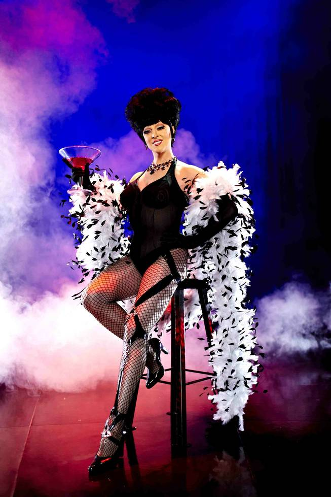 Edie, Mistress of Ceremonies, in <em>Zumanity</em> at New York-New York.