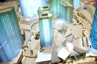 A model of the City Center project on display at their sales office off Las Vegas Boulevard South in Las Vegas Wednesday, January 23, 2008.