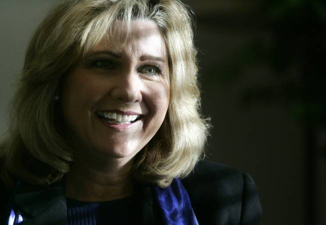 Kathy Augustine, shown in 2005, made enemies in her own party when she refused to give up her state controller's post.