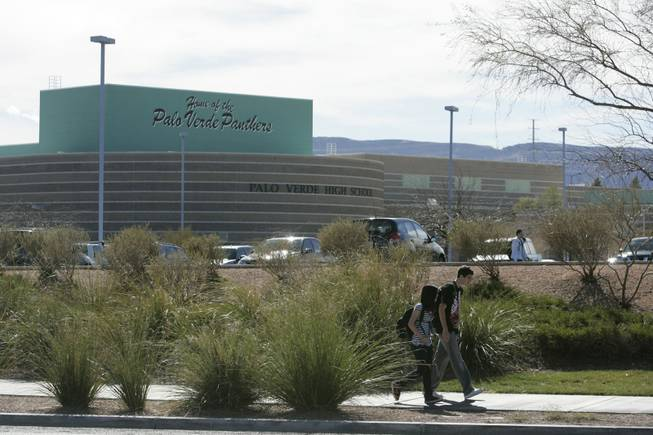 Students leave Palo Verde High School on Monday, 10 days after classmate Christopher Privett was killed near the school.