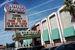 Nevada Palace on its final day of business, Thursday, February 28, 2008.
