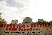 A sign at the entrance proclaims the Southern Nevada Zoological-Botanical Park as