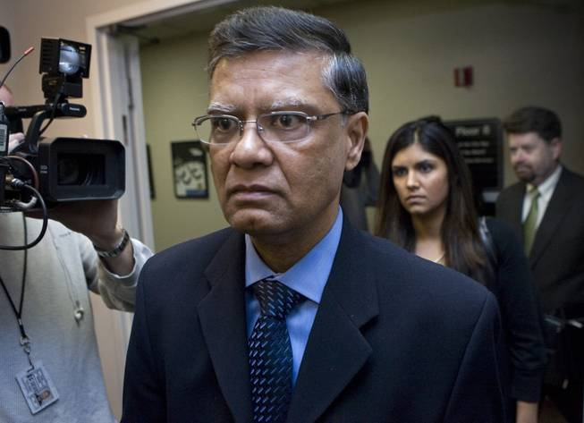 Dr. Dipak Desai, the majority owner of the Endoscopy Center of Southern Nevada, leaves a hearing at Las Vegas City Hall on March 3, 2008.
