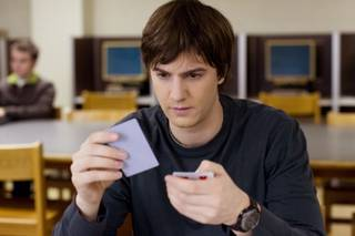 Ben Campbell (Jim Sturgess, left) is recruited by Jill Taylor (Kate Bosworth, right) to join M.I.T.'s blackjack team -- a group of students that uses smarts and skills to take Vegas for millions -- in Columbia Pictures' 21.