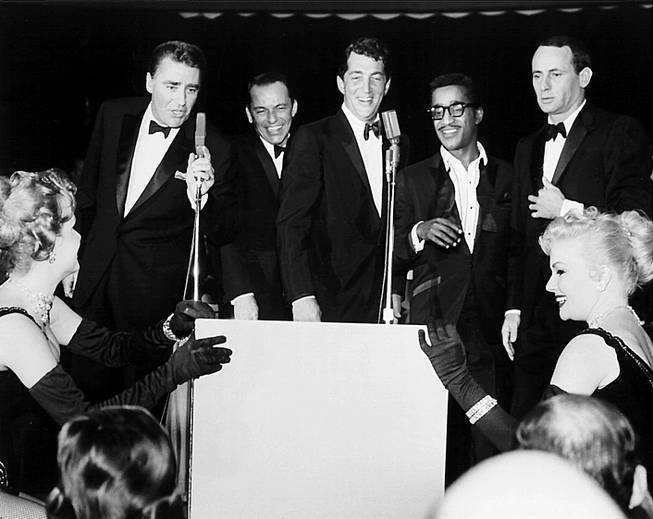 All five members of the Rat Pack, from left, Peter ...