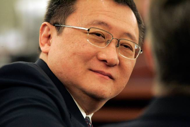 Plaintiff Richard Suen appears in District Court Thursday, April 17, 2008. Suen sued Las Vegas Sands Corp. Chairman Sheldon Adelson and claims that he is owed millions of dollars for helping Las Vegas Sands win a Macau gambling license in 2002.