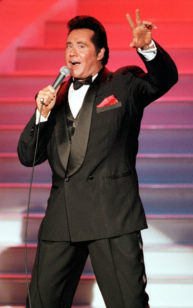 Wayne Newton shown giving his all at the Hollywood Theatre in the MGM Grand.