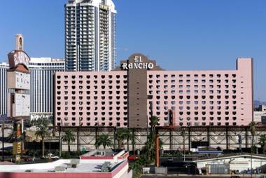The El Rancho hotel-casino from the Circus Circus parking garage before it was imploded on Oct. 3, 2000.