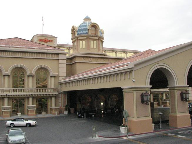 Vehicles come and go from the front entrance of the Suncoast Casino, owned by Boyd Gaming.