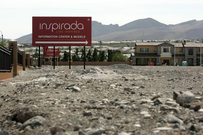 Inspirada, near Anthem in Henderson, was envisioned as a 13,500-home, 2,000-acre New Urbanist community where people could walk to parks, schools and a casino, but the housing slump has called into question the commitment of developers and buyers and perhaps lowered the value of some of the homes by about $100,000.