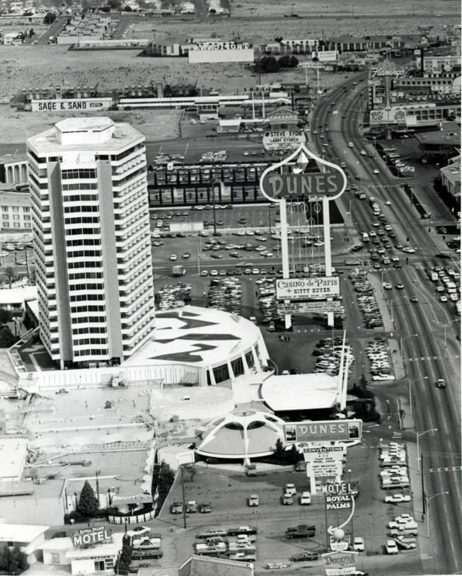 A 1960s aerial photo of the Dunes. Shenker was a major shareholder of the resort until it went bankrupt in 1985.